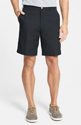 Men's Peter Millar 'Salem' Flat Front Performance Shorts Black