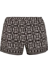 Madewell Foulard Paisley Print Voile Shorts Black