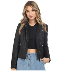Only Farah Faux Leather Biker Black Women's Clothing