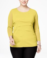 Alfani Plus Size Tiered Top Only At Macy's Popcorn