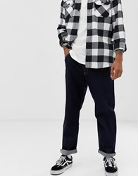 Brooklyn Supply Co. Co Wide Fit Jeans In Indigo Blue