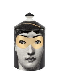 Fornasetti Golden Burlesque Scented Candle With Lid Black Gold