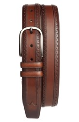 Mezlan Men's Leather Belt Cognac