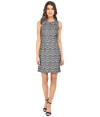 Jessica Simpson Bonded Lace Dress Black White