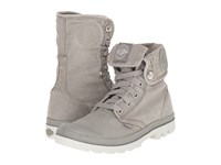 Palladium Baggy Concrete Silver Birch Women's Lace Up Boots Gray