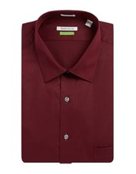 Van Heusen Big Fit Cotton Dress Shirt Oxblood