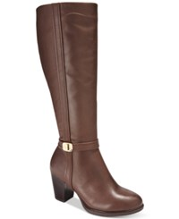 Giani Bernini Raiven Tall Wide Calf Boots Only At Macy's Women's Shoes Brown