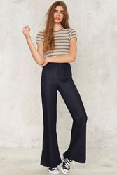 Flare With Me High Waisted Jeans Blue