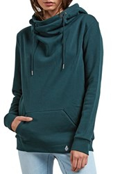 Volcom Walk On By Funnel Neck Hoodie Evergreen