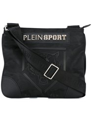 Plein Sport Tiger Satchel Men Nylon Polyester Polyurethane One Size Black