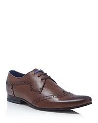 Ted Baker Hann Wingtip Oxfords Brown Leather