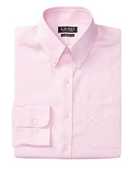 Lauren Ralph Lauren Slim Fit Stretch Oxford Dress Shirt Pink