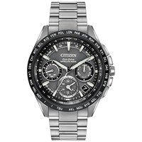 Citizen Cc9015 71E Men's Satellite Wave Titanium Bracelet Strap Watch Silver Black