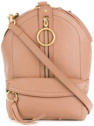 See By Chloe Mino Small Backpack Nude And Neutrals