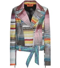 Missoni Striped Crochet Knitted Jacket Multicoloured
