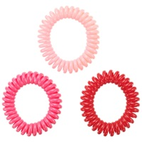 Jane Tran Coiled Hair Ties Pack Of 3 Pink