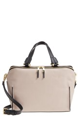 Danielle Nicole Mia Leather Satchel Grey Light Grey Combo