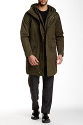 Shades Of Grey Down Parka Green