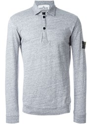 Stone Island Button Collar Sweatshirt Grey