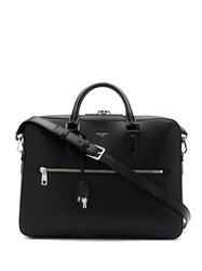 Dolce And Gabbana Zipped Briefcase Black