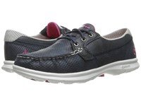 Skechers Go Step Shore Navy White Women's Shoes Blue