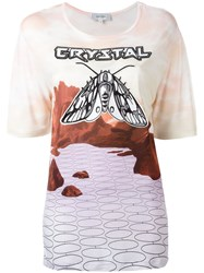 Carven 'Crystal' T Shirt Pink Purple
