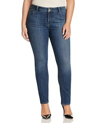 Lucky Brand Plus Emma Faded Straight Leg Jeans In Mystic Road Salt Water
