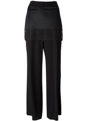 Givenchy Lace Trim Skirt Trousers Black