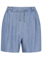 Karl Lagerfeld Maria Blue Chambray Shorts