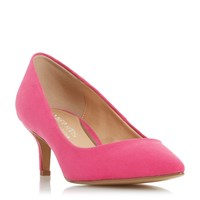 Head Over Heels Annabel Kitten Heel Court Shoes Pink