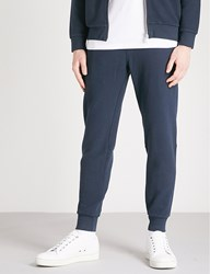 Barbour Grip Relaxed Fit Cotton Jersey Jogging Bottoms Navy