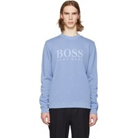 Boss Blue Logo French Rib Sweatshirt