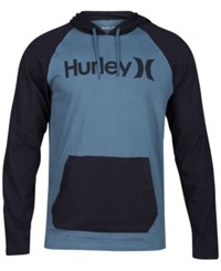 Hurley One And Only Colorblocked Raglan Hoodie Hasta Black