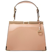 Dune Danni Patent Frame Lady Bag Nude