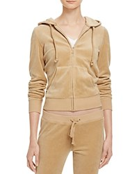 Juicy Couture Black Label Robertson Velour Zip Hoodie 100 Bloomingdale's Exclusive Camel
