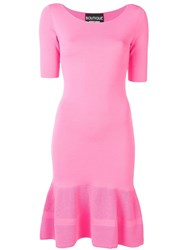 Boutique Moschino Fitted Midi Dress Pink