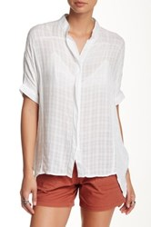 Supplies By Unionbay Checkered Gauze Dolman Sleeve Blouse White