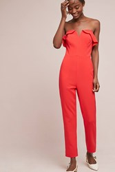 Greylin Penny Strapless Jumpsuit Red