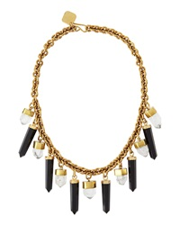Ashley Pittman Black Obsidian And Crystal Prism Bib Necklace
