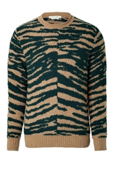 Marc Jacobs Cashmere Wool Zebra Print Pullover