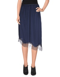 Pink Memories 3 4 Length Skirts Dark Blue