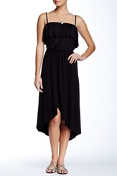 Sweet Pea Ruffled Hi Lo Dress Black