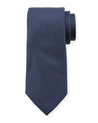 Neiman Marcus Textured Dot Silk Tie Navy