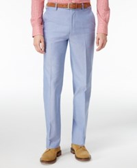 Tommy Hilfiger Men's Slim Fit Stretch Performance Blue Chambray Solid Suit Pants