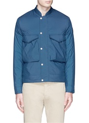 Paul Smith Fleece Lined Ripstop Bomber Jacket Blue