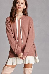Forever 21 Zipper Vent Hoodie
