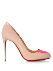 Christian Louboutin Doracora Patent Leather 100Mm Pumps Pink Multi