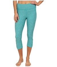 The North Face Motivation Crop Legging Kokomo Green Heather Women's Capri Blue