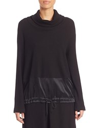 Public School Rib Knit Silk Blend Top Black
