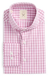 Strong Suit Men's Big And Tall Trim Fit Check Dress Shirt Pink Gingham